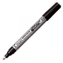 STYLO PILOT A CUIR MINE ARGENT
